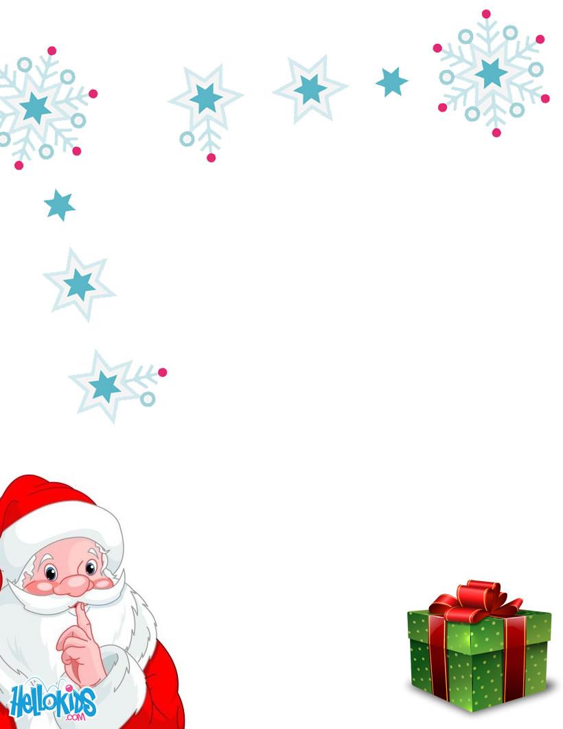 Activités Manuelles Modèles De Lettre Au Père Noël À à Papier À Lettre Pere Noel