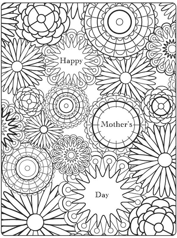 Adult Coloring Page Mother'S Day | Mandala Coloring Pages à Coloriage Happy Color