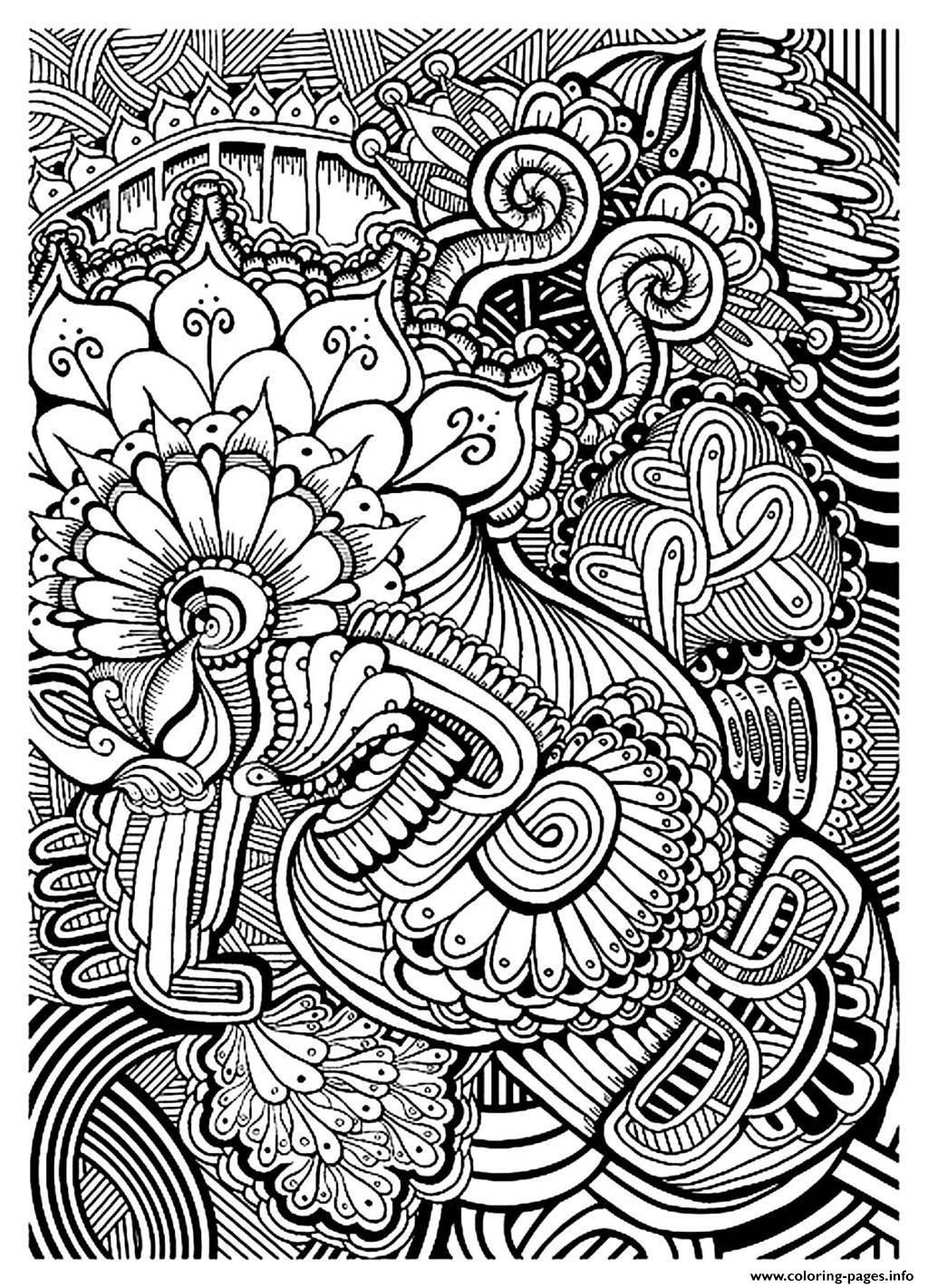 Adult Zen Anti Stress Relax To Print Coloring Pages Printable dedans Coloriages Zen