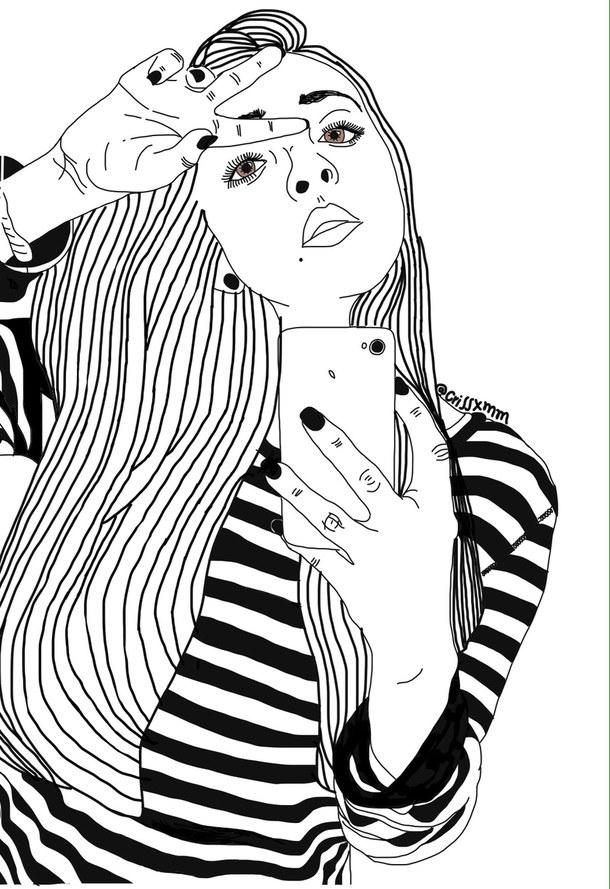 Aesthetic, Art, Black, Black & White, Black And White destiné Coloriage Iphone 11