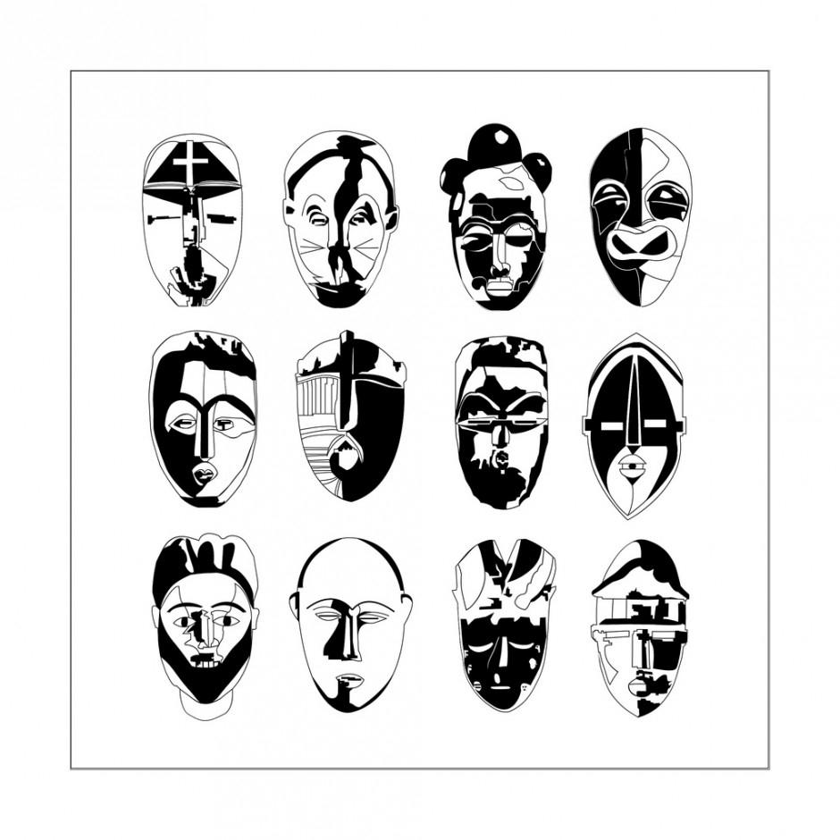 Afrique Masques - Afrique - Coloriages Difficiles Pour Adultes intérieur Dessin Masque Africain
