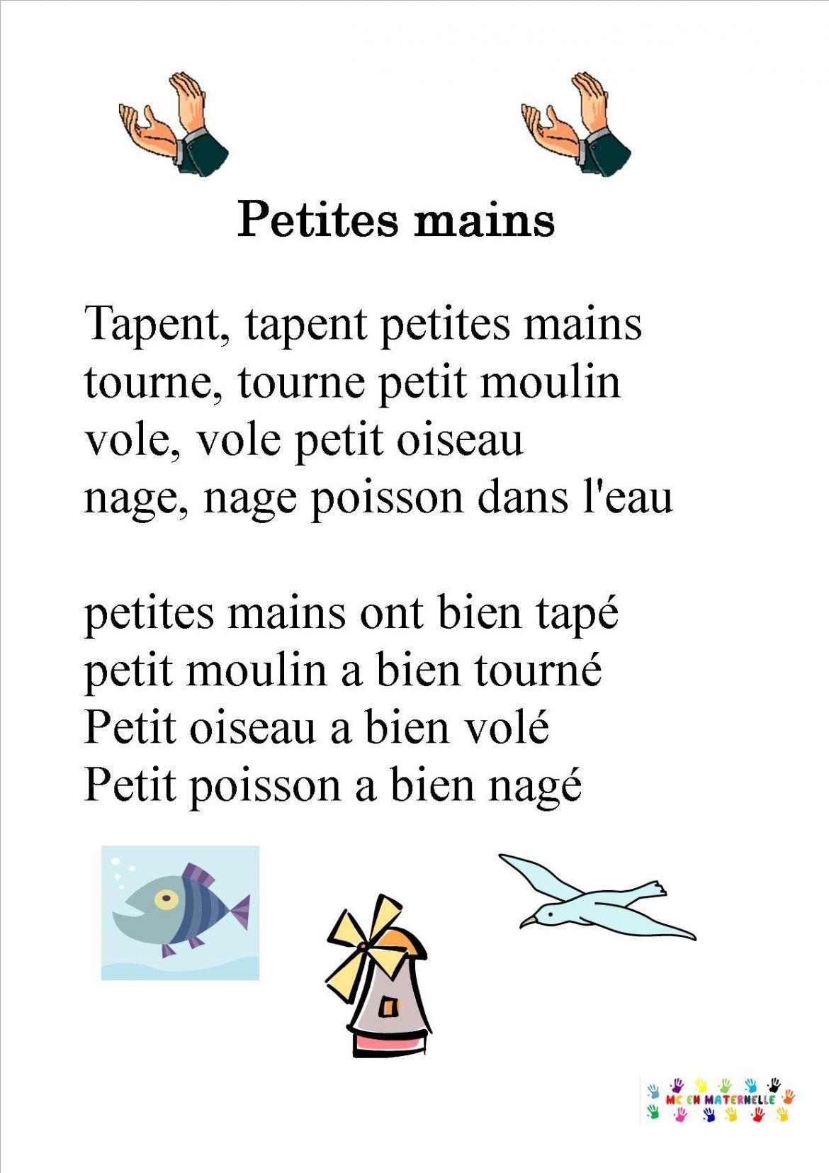 Ainsi Font, Font, Font, Comptine Mimée Pour Enfants > Mes destiné Parole Ainsi Font Font