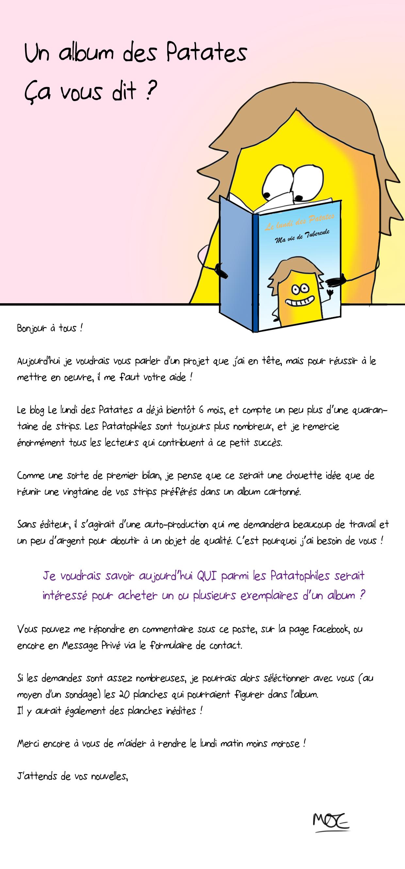 Album - Le Lundi, Des Patates avec Les Patates Chanson