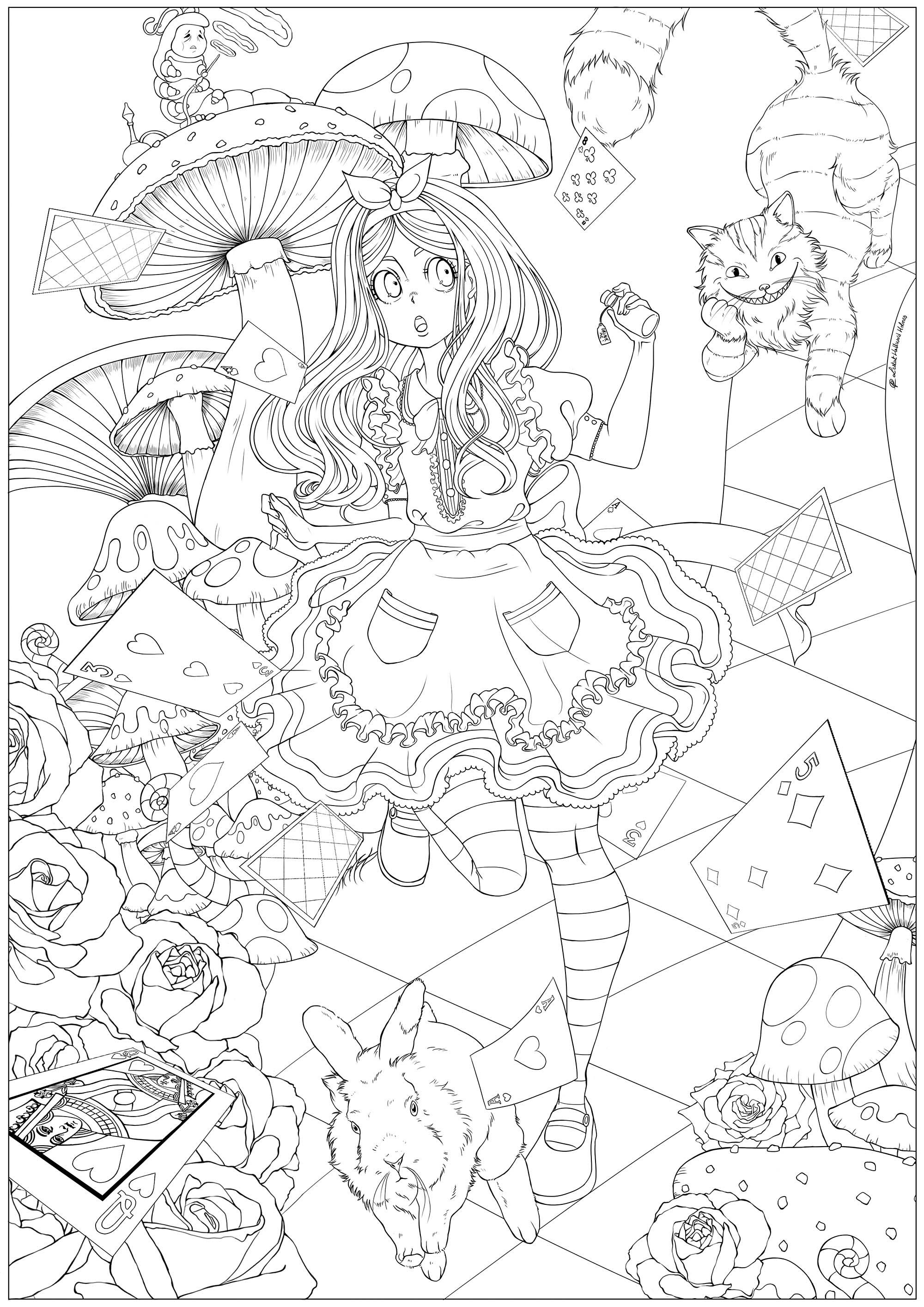 Alice Au Pays Des Merveilles 1 - Retour En Enfance à Coloriage Alice Au Pays Des Merveilles A Imprimer Gratuit