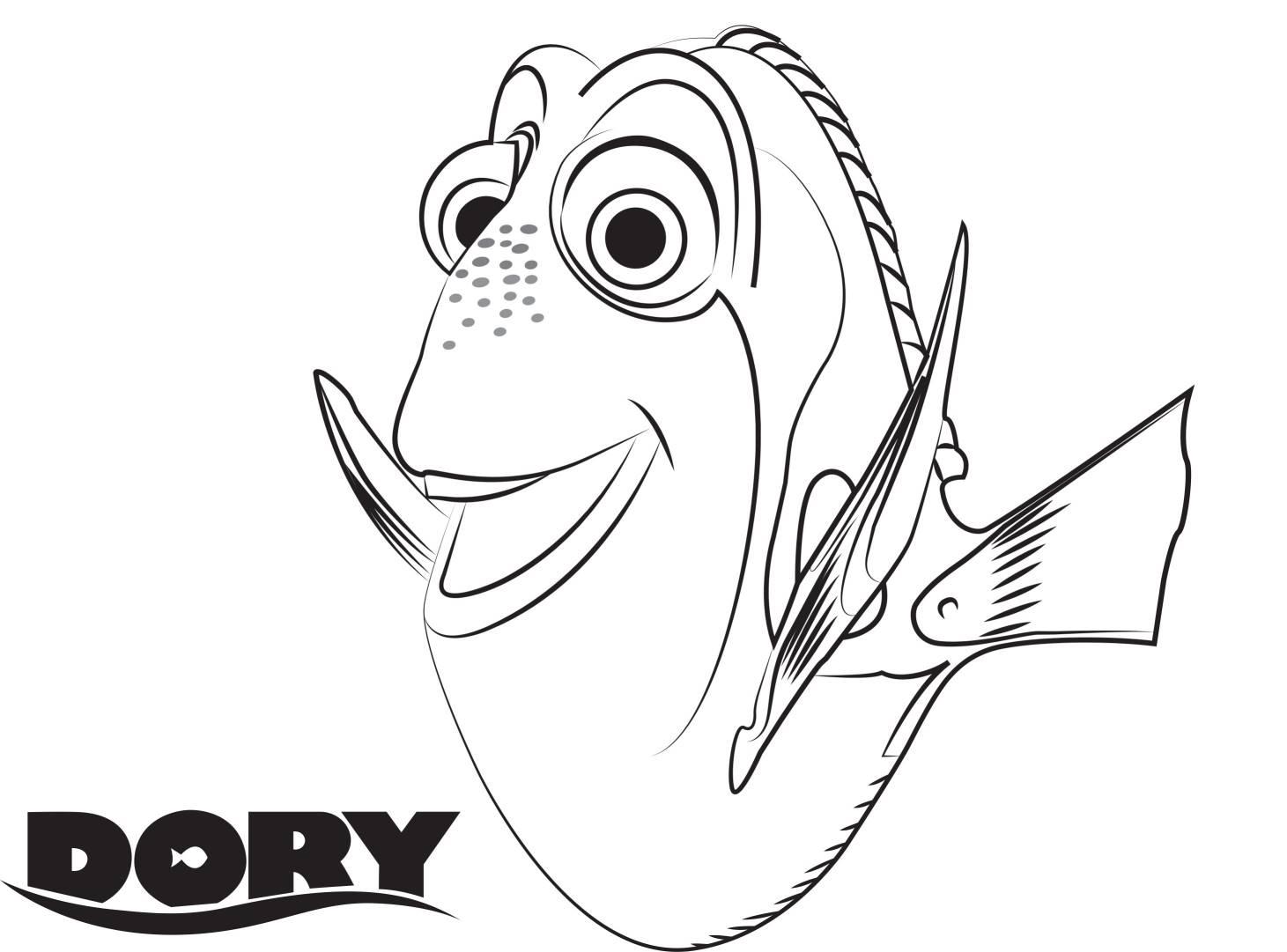 Alla Ricerca Di Dory | Disegni Da Colorare à Coloriage Finding Dory