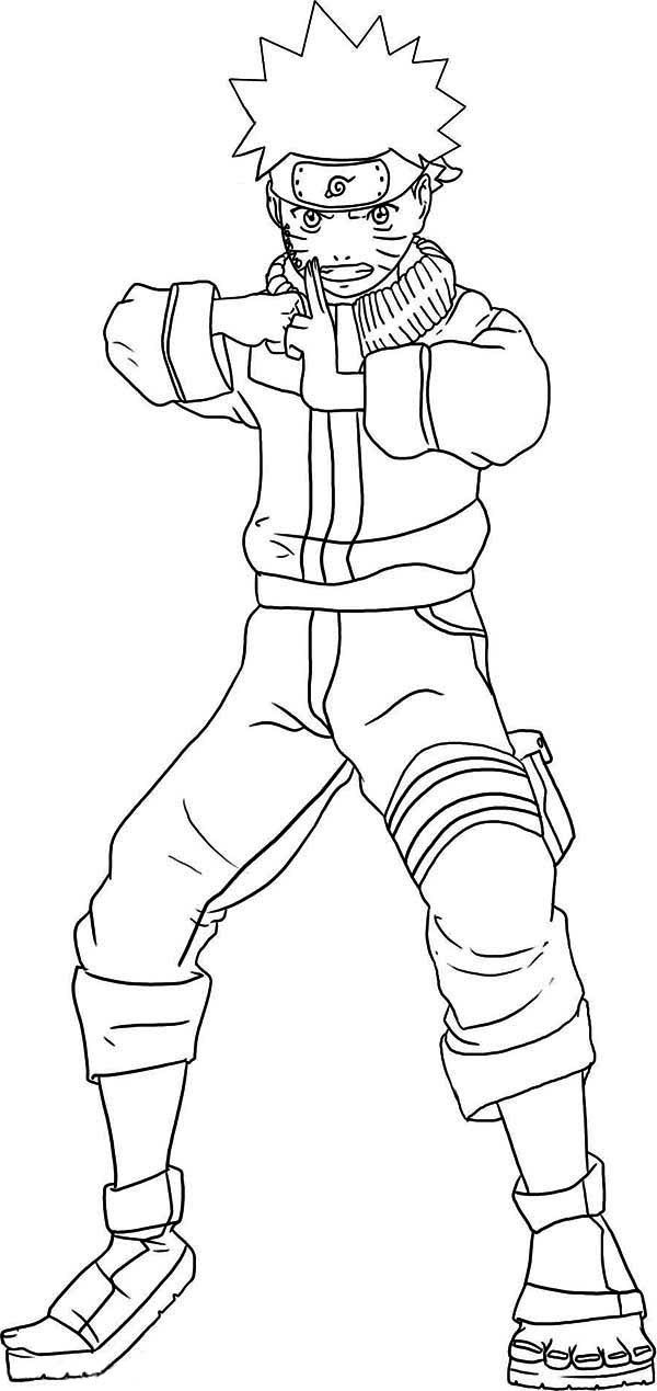 Amazing Naruto Coloring Page - Download & Print Online à Coloriage Naruto Shippuden