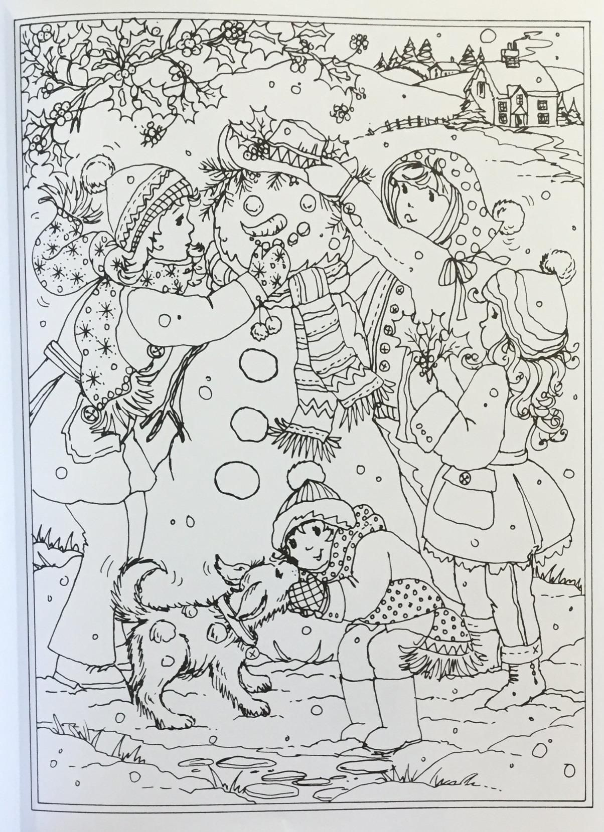 Amazon: Creative Haven Winter Wonderland Coloring Book destiné Coloriage Amazon