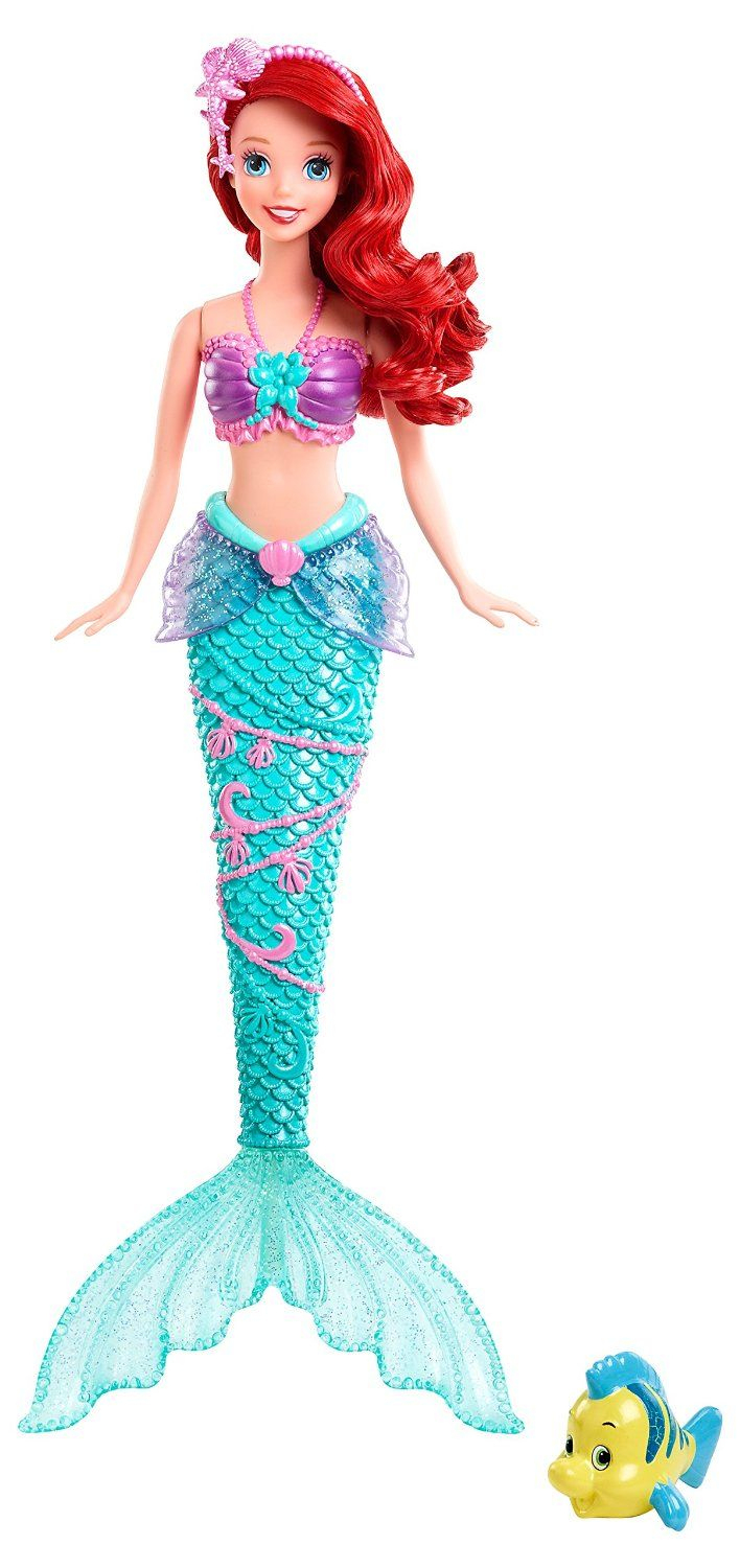 Amazon: Disney Princess Water Show Ariel Fashion Doll tout Barbie Sirene A La Plage
