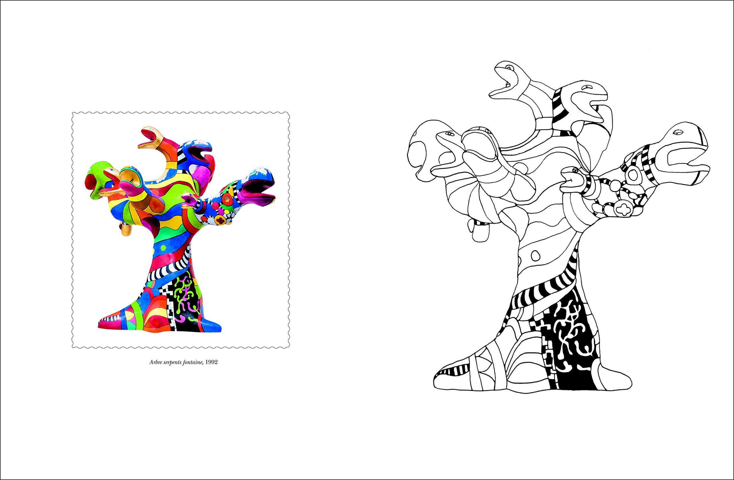 Amazon.fr - Cahier De Coloriages Niki De Saint Phalle dedans Coloriage Amazon