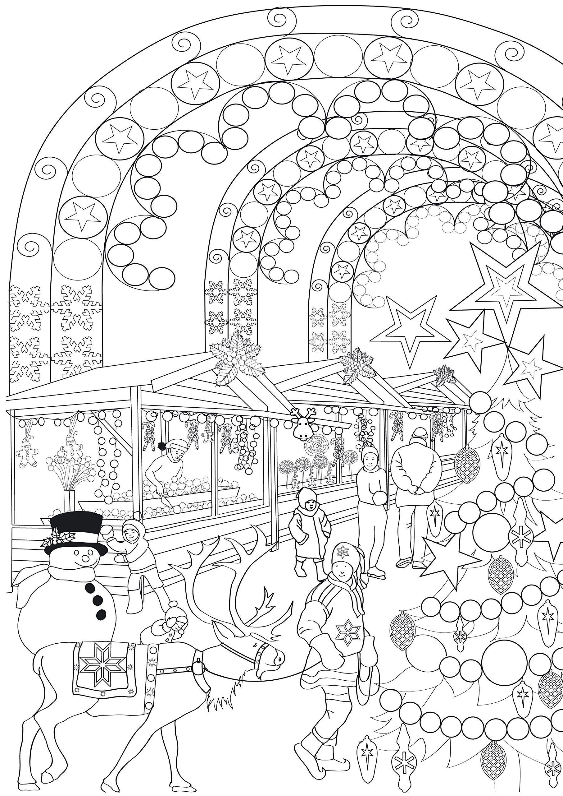 Amazon.fr - Hiver: 100 Coloriages Anti-Stress Art-Thérapie serapportantà Coloriage Art Thérapie