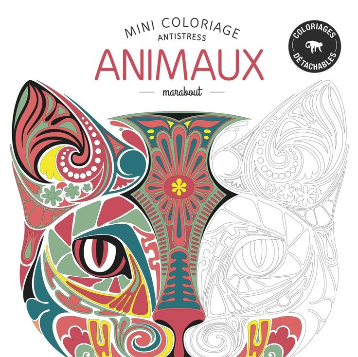 Amazon.fr - Mini Coloriage Antistress Animaux - Collectif à Coloriage Amazon