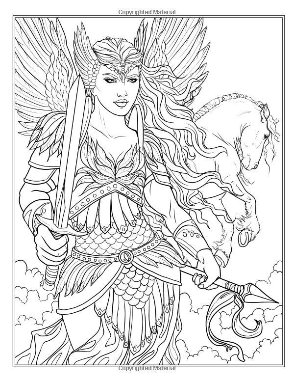 Amazon: Goddess And Mythology Coloring Book (Fantasy destiné Coloriage Amazon