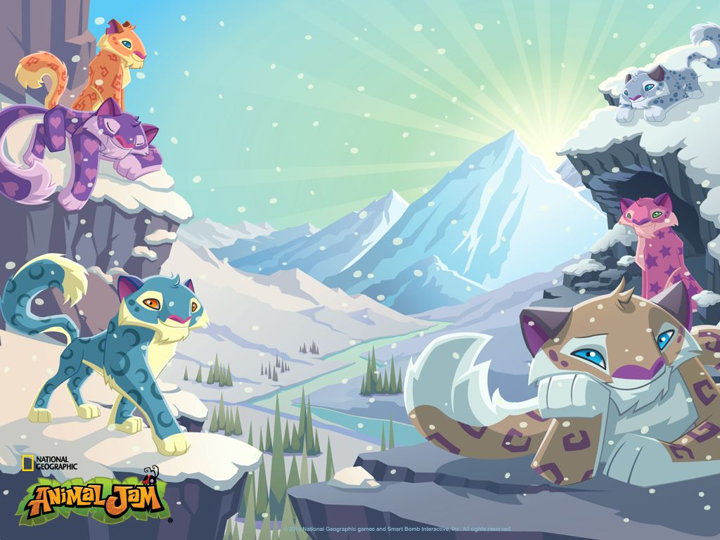 Animal Jam Snow Leopard | Snow Leopard Wallpaper - The destiné Jeux Animal Jam