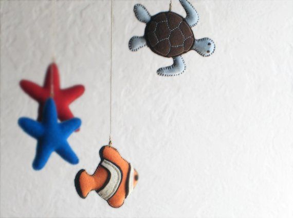 Animal Mobile Clown Fish, Blue, Turtle, Star Fish > Baby destiné Clowns Etoile