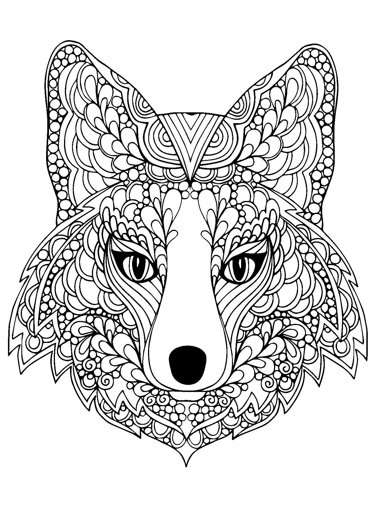 Animals | Coloriage Mandala Animaux, Coloriage Mandala destiné Coloriage Chien A Imprimer Gratuit