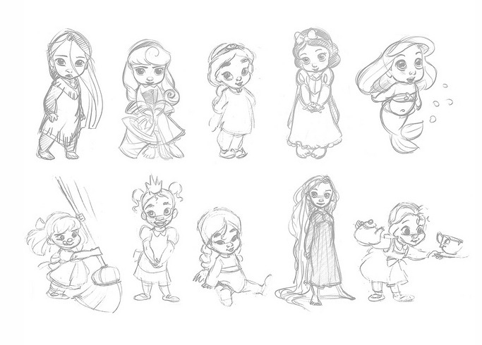 Animators Disney Princesses à Comment Dessiner Une Princesse