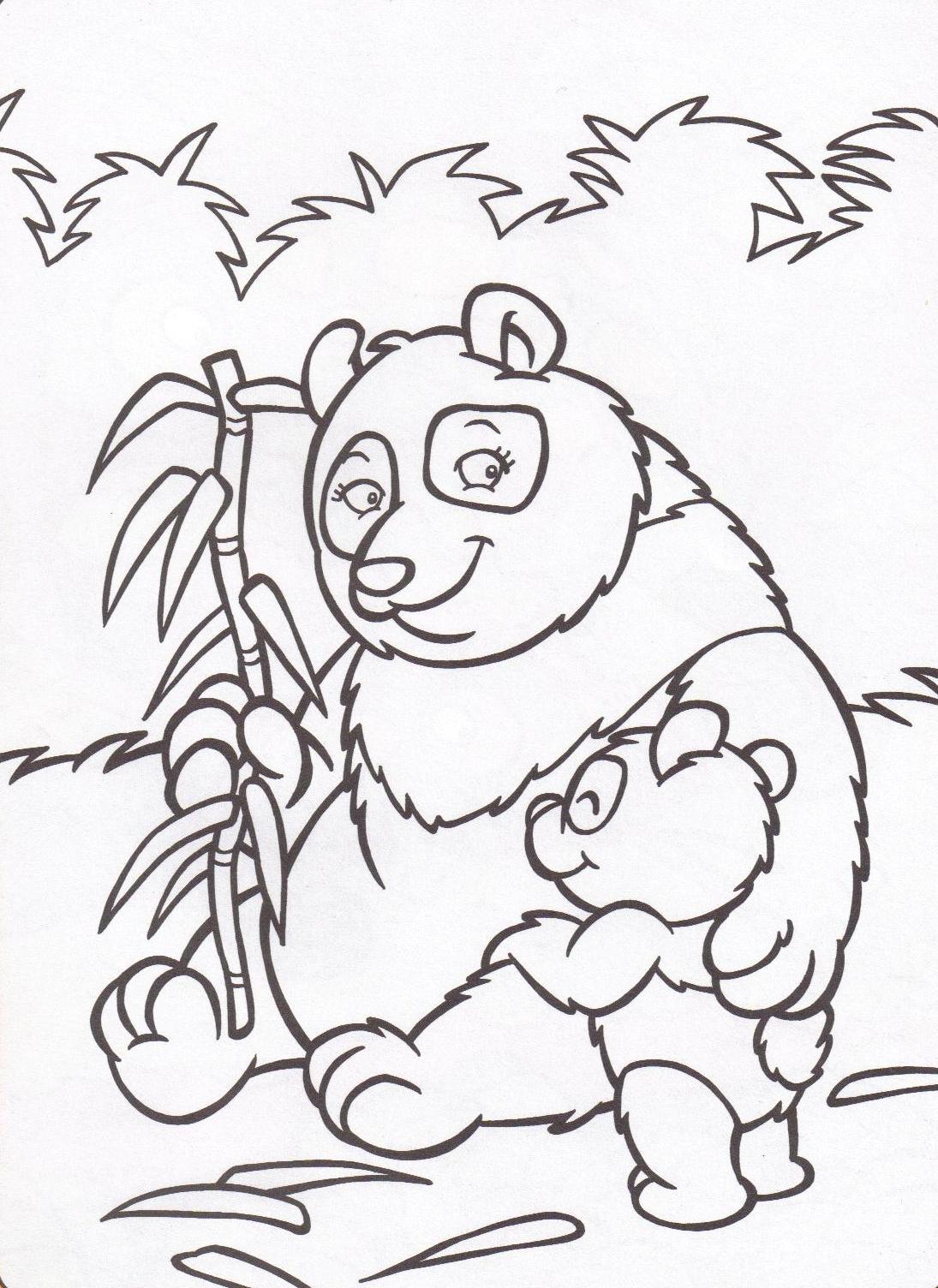 Animaux Sauvages encequiconcerne Panda A Colorier