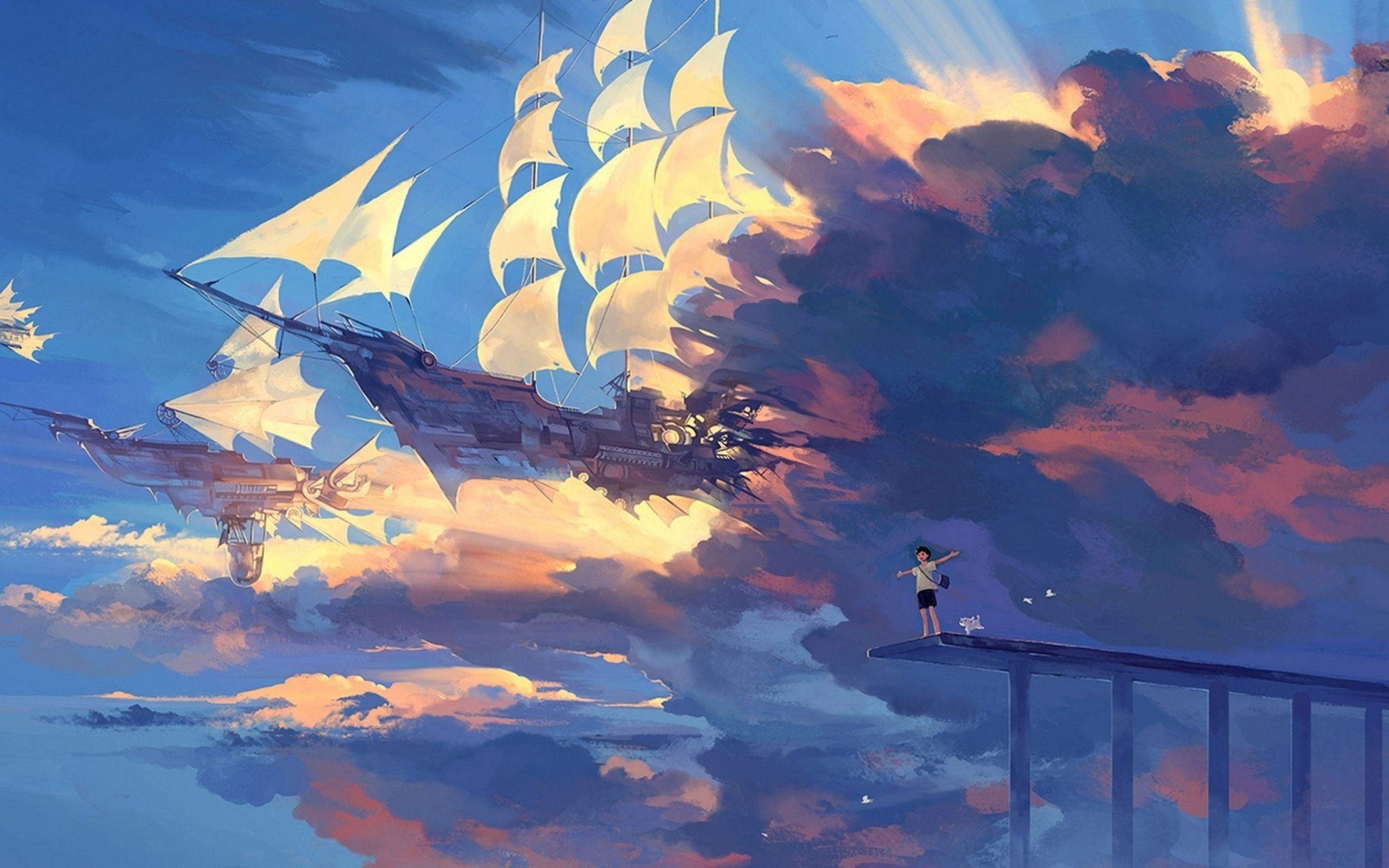 Anime Sky Wallpaper For Desktop 2560X1600 Px 1.00 Mb avec Fond D'Ecran Hd Themes Elie S Book