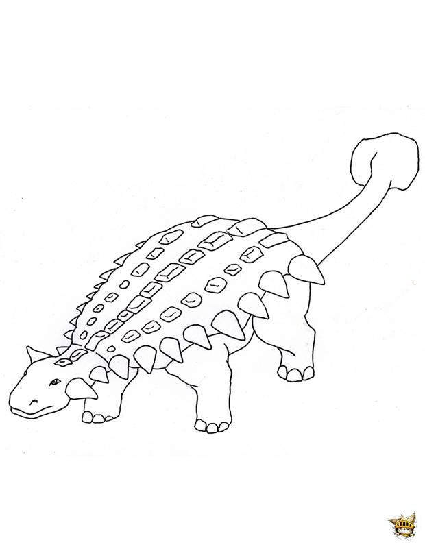 Ankylosaurus Est Un Coloriage De Dinosaures À Imprimer intérieur Coloriage Dinosaure À Imprimer Gratuit