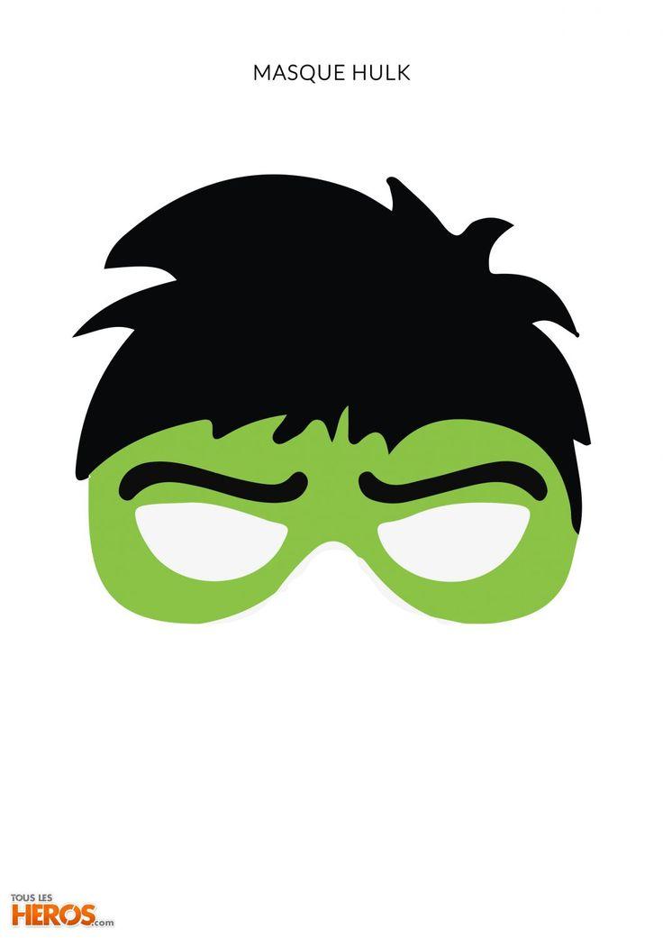 Anniversaire Avengers | Deguisement Hulk, Déguisement pour Masque Super Héros A Imprimer