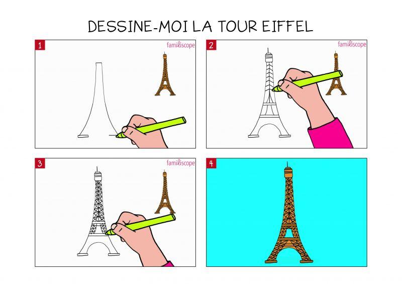Apprendre À Dessiner La Tour Eiffel En 3 Étapes concernant Dessiner La Tour Eiffel