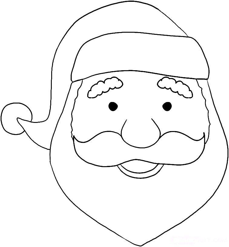 Apprendre-A-Dessiner-Le-Visage-Du-Pere-Noel-4 (756×816 serapportantà Comment Dessiner Le Pere Noel