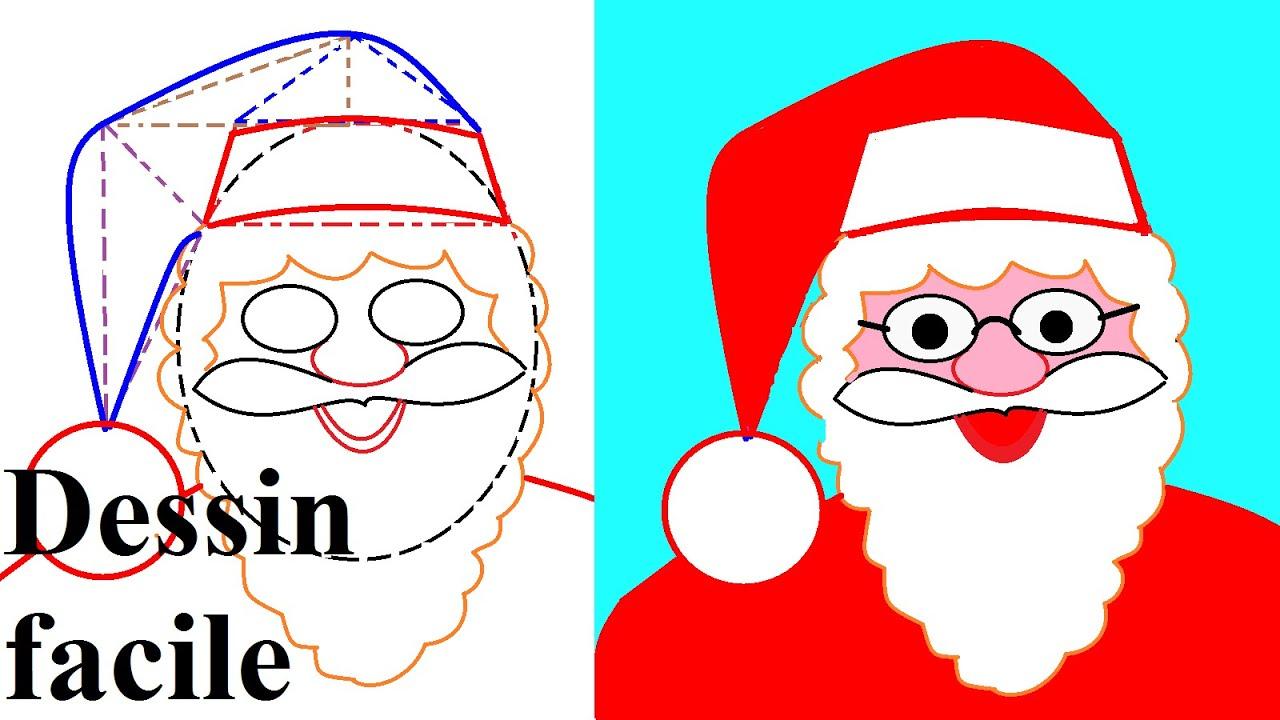 Apprendre À Dessiner Noël : Dessin Du Père Noël - encequiconcerne Image De Dessin De Noel