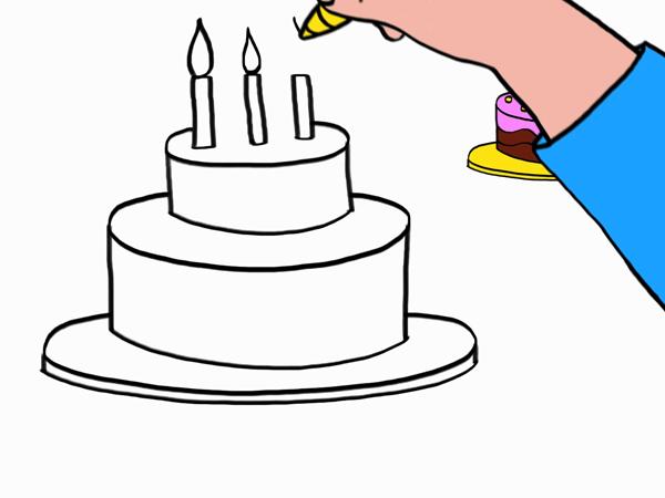 Apprendre À Dessiner Un Gâteau D'Anniversaire En 3 Étapes serapportantà Dessin De Gateau Anniversaire