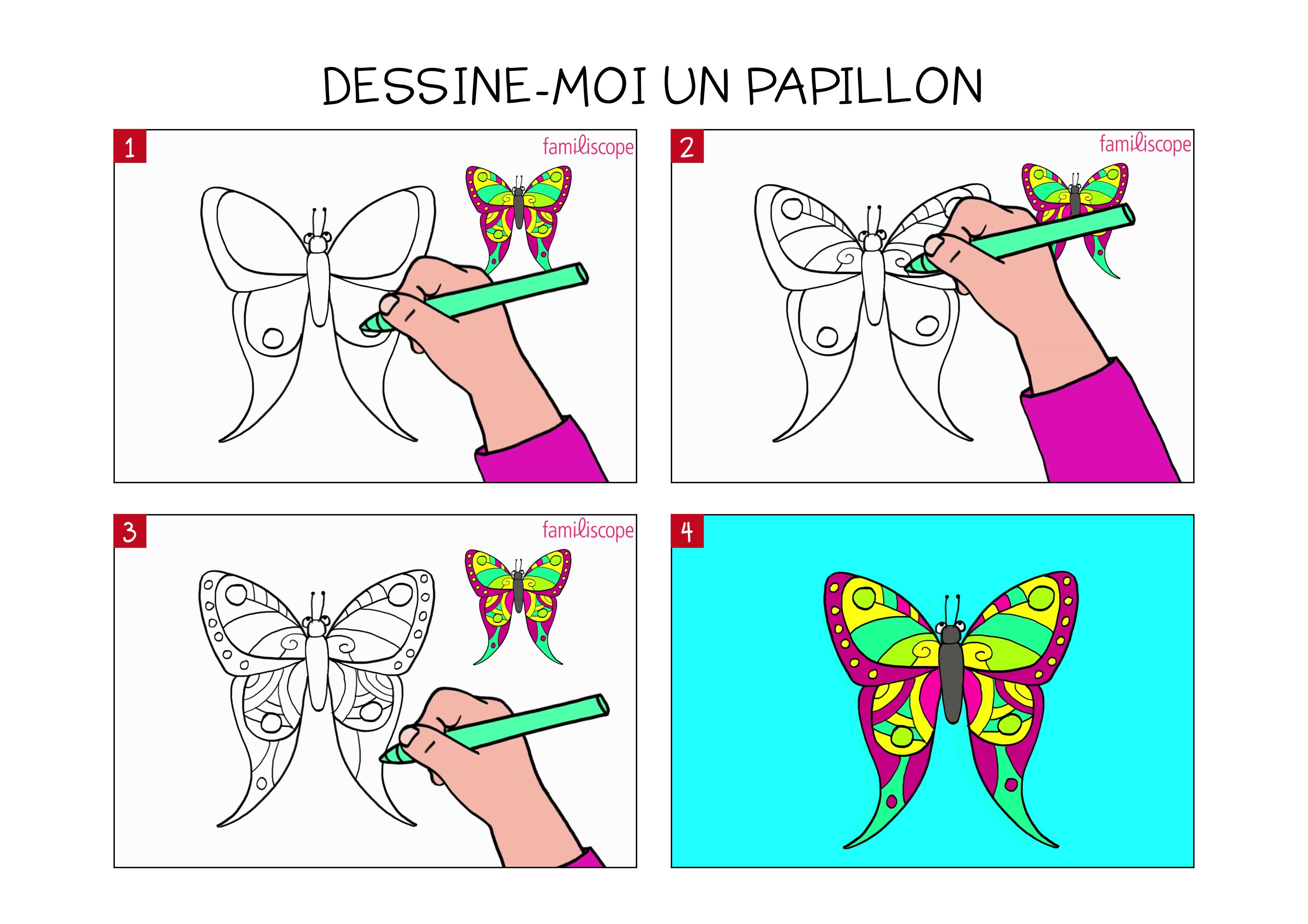 Apprendre À Dessiner Un Papillon En 3 Étapes concernant Dessin Petit Papillon
