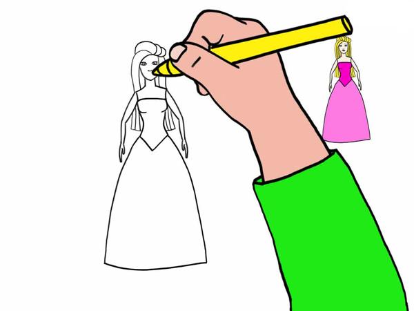 Apprendre À Dessiner Une Poupée Barbie En 3 Étapes serapportantà Dessin Fée Facile