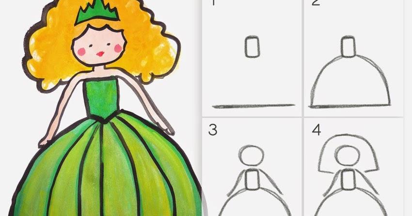 Apprendre À Dessiner Une Princesse En 4 Étapes Faciles intérieur Comment Dessiner Une Princesse