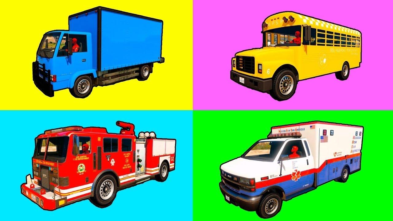 Apprendre Les Couleurs Voitures Et Camion Avec Dessin destiné Dessin Animé Camion Grue