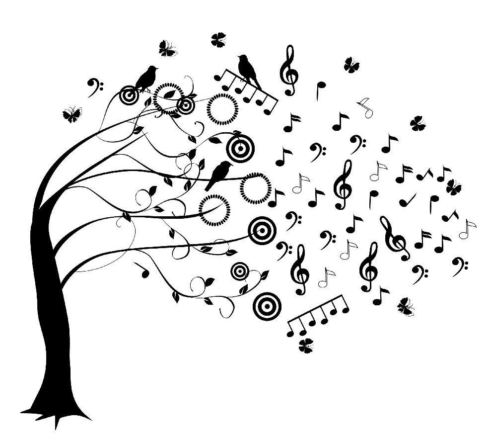 Arbre De Musique | Dessin Musique, Musique Peinture, Note dedans La Fete De La Musique Coloring Book