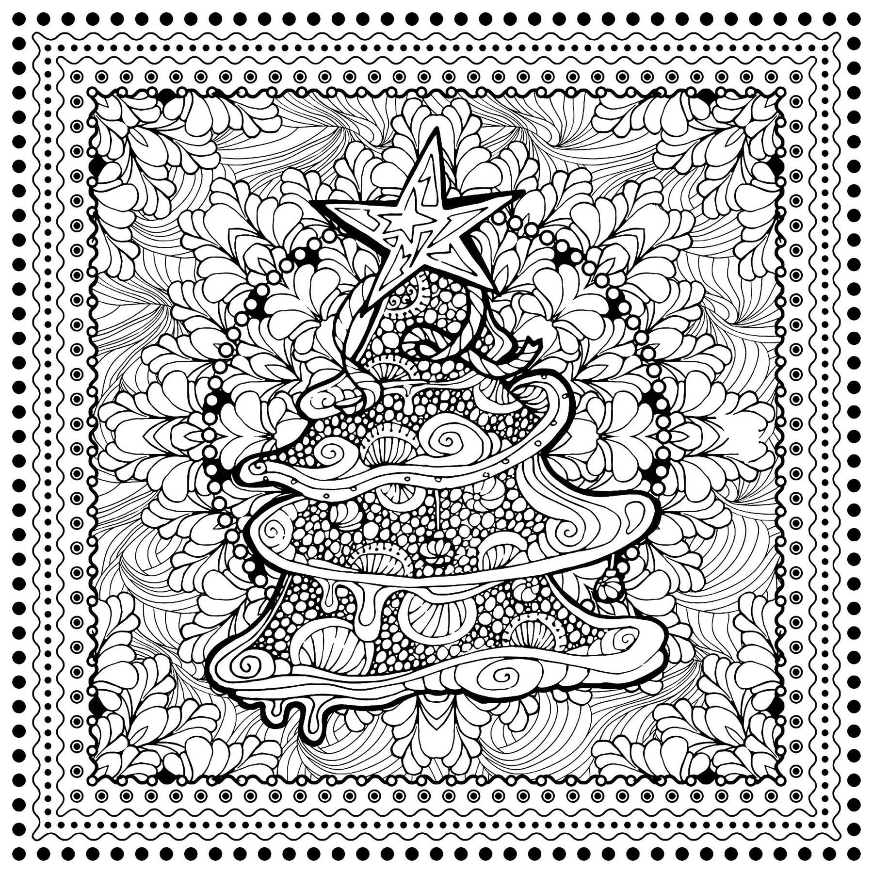 Arbre Noel Ilonitta - Noël - Coloriages Difficiles Pour dedans Coloriage Magique Pour Adulte