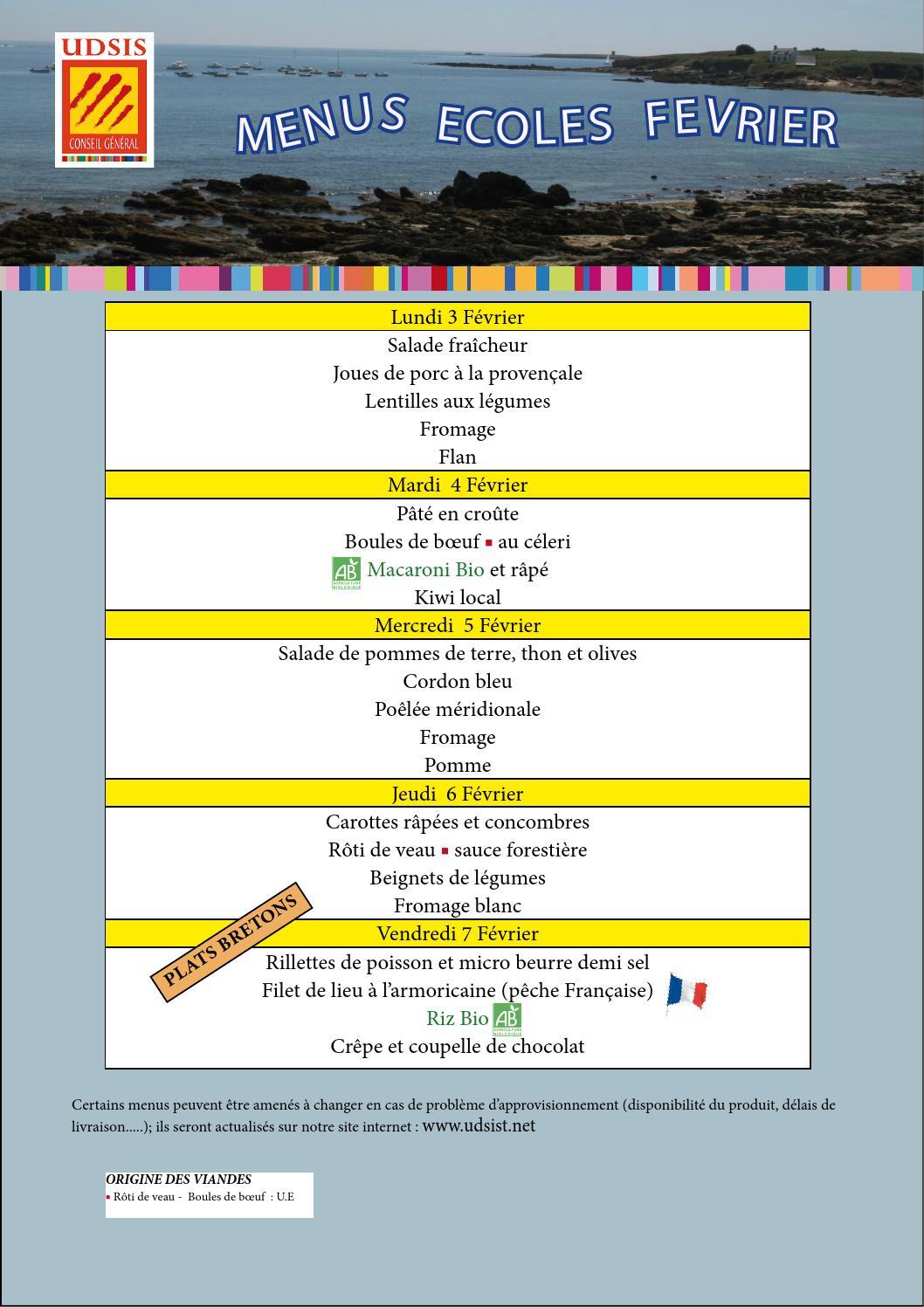 Argeles Sur Mer Menus Maternelle 03 02 Au 28 02 2014 By concernant Issuu - Boule