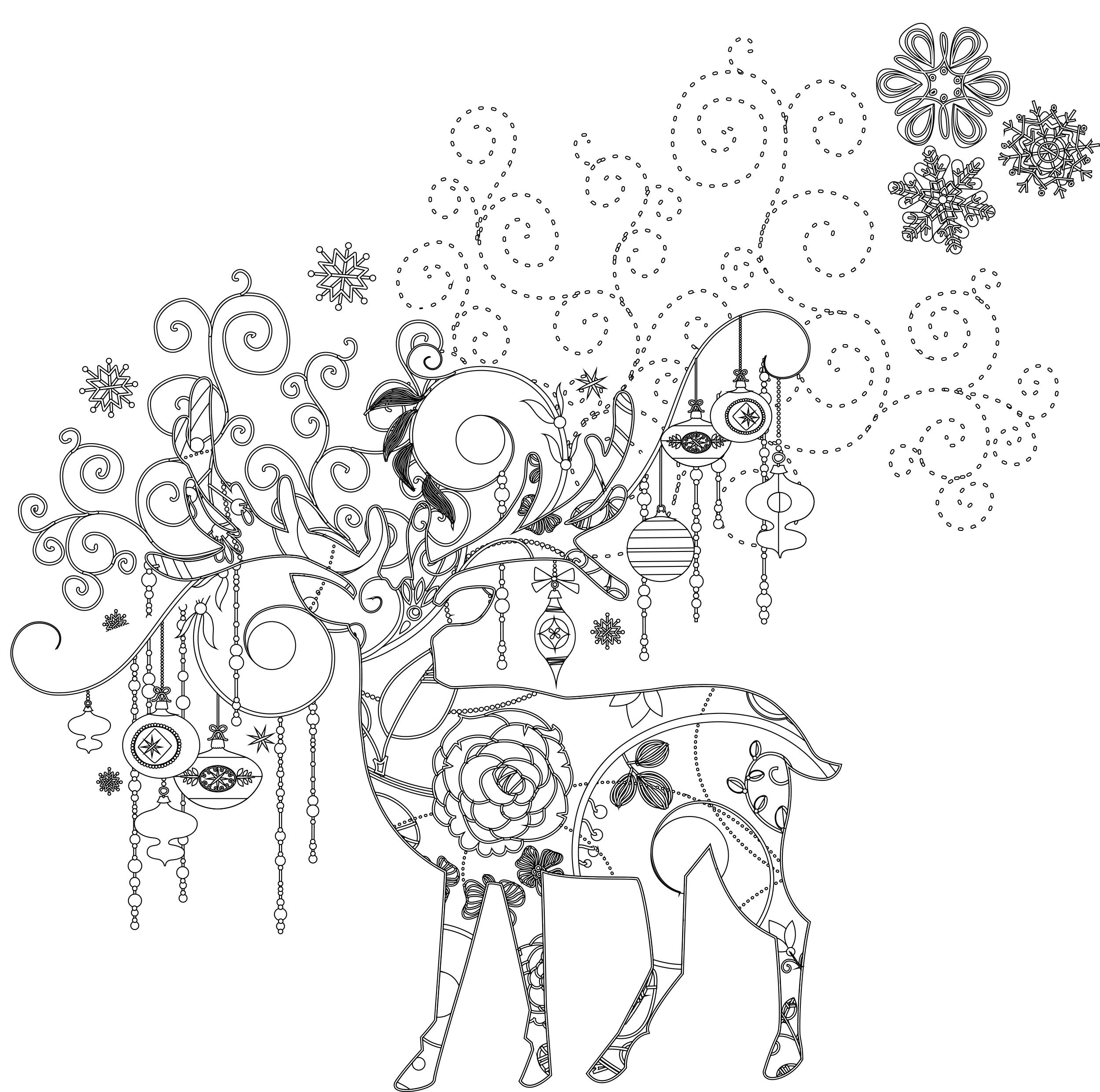 Art Thérapie Animaux Dessin A Imprimer De Noel Gratuit destiné Dessin A Imprimer