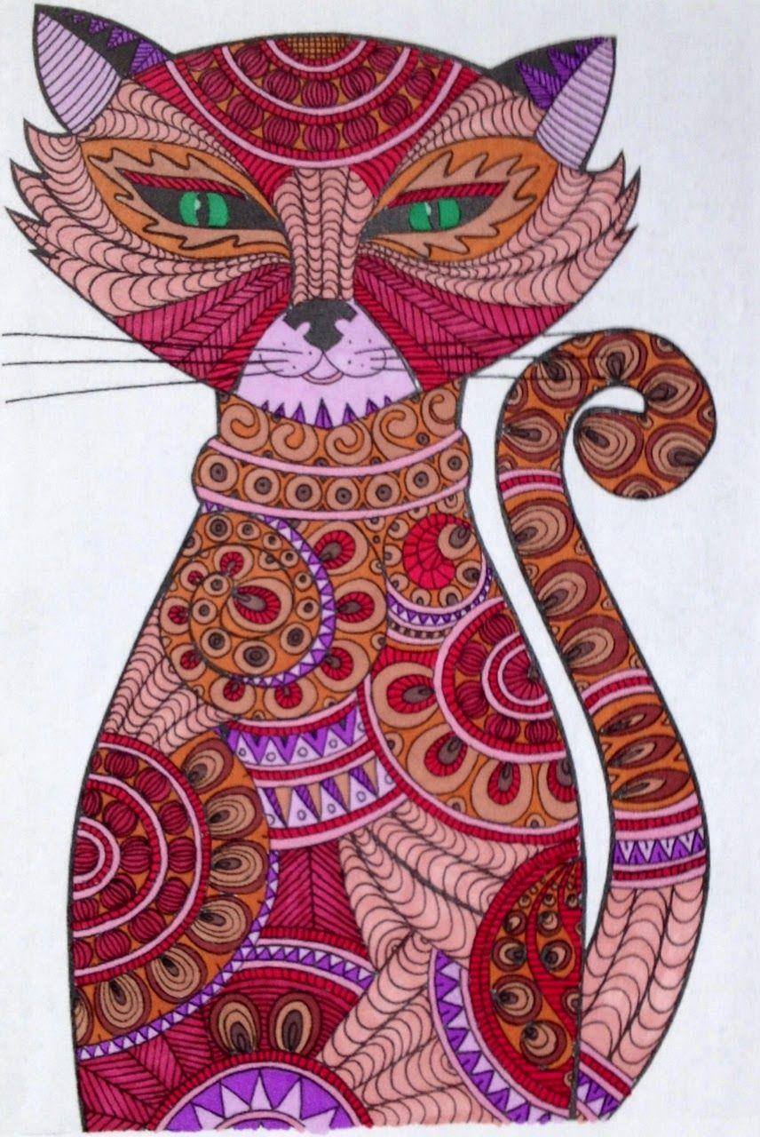 Art-Thérapie Coloriage : Chat #1   Coloriage Chat encequiconcerne Coloriage Art Thérapie