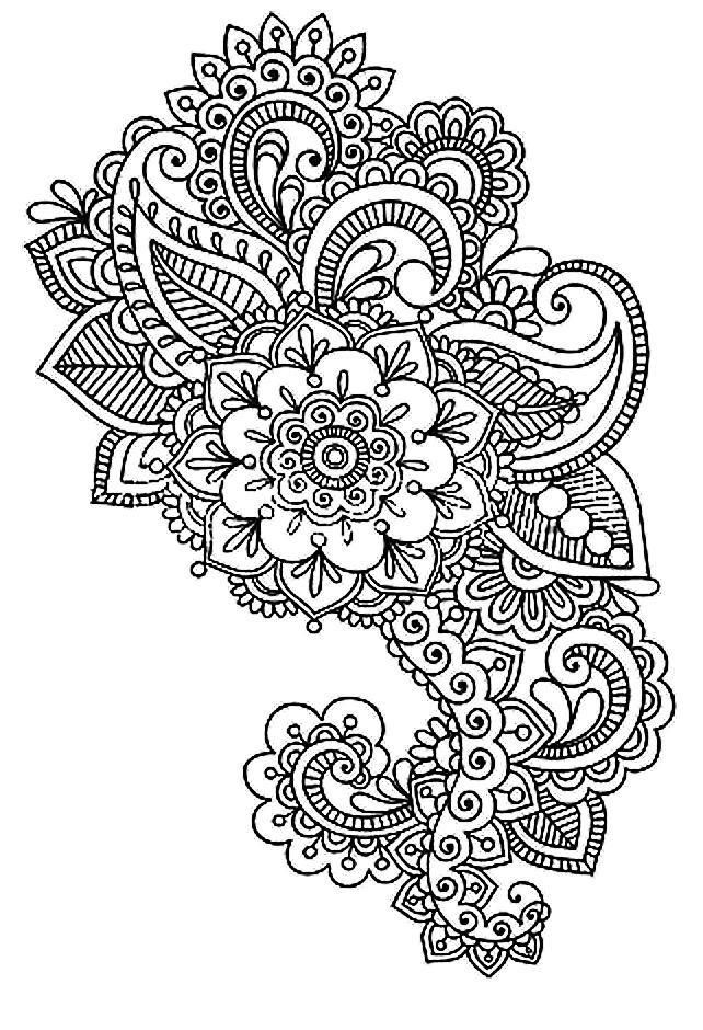 Art-Therapie Dessin À Colorier Et Imprimer | Doodle destiné Art Thérapie Coloriage