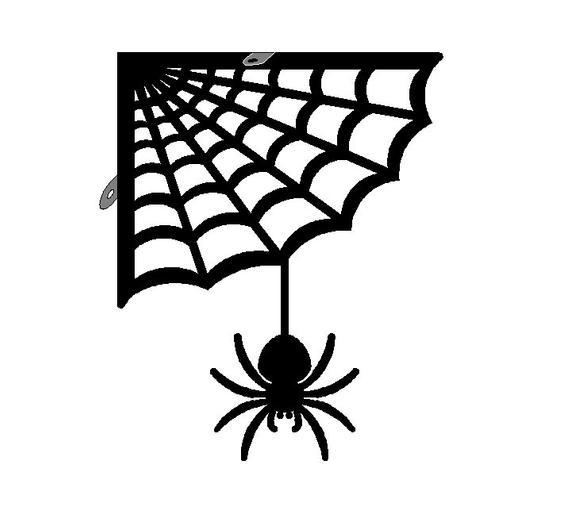 Articles Similaires À Araignée Avec Équerre De Coin De Web destiné Toile D Araignée Dessin