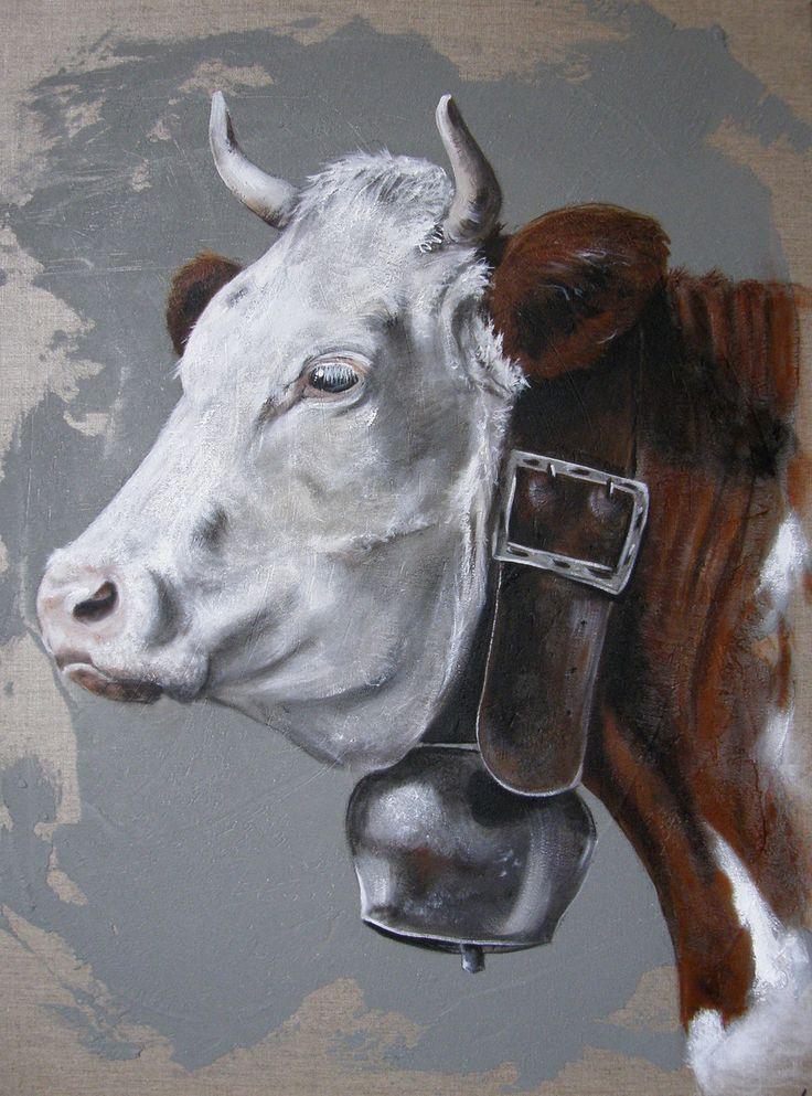 Artiste Peintre Animalier Des Animaux De La Ferme, Poules à Dessin D Une Vache