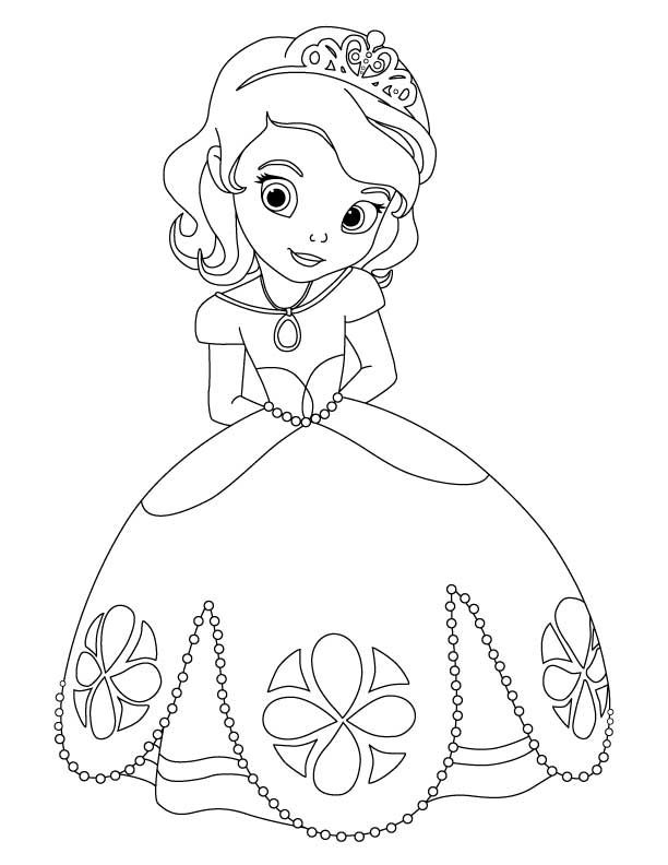 Artwork - Coloriages Princesse Sofia, Best Images Concepts concernant Princesse Coloriage