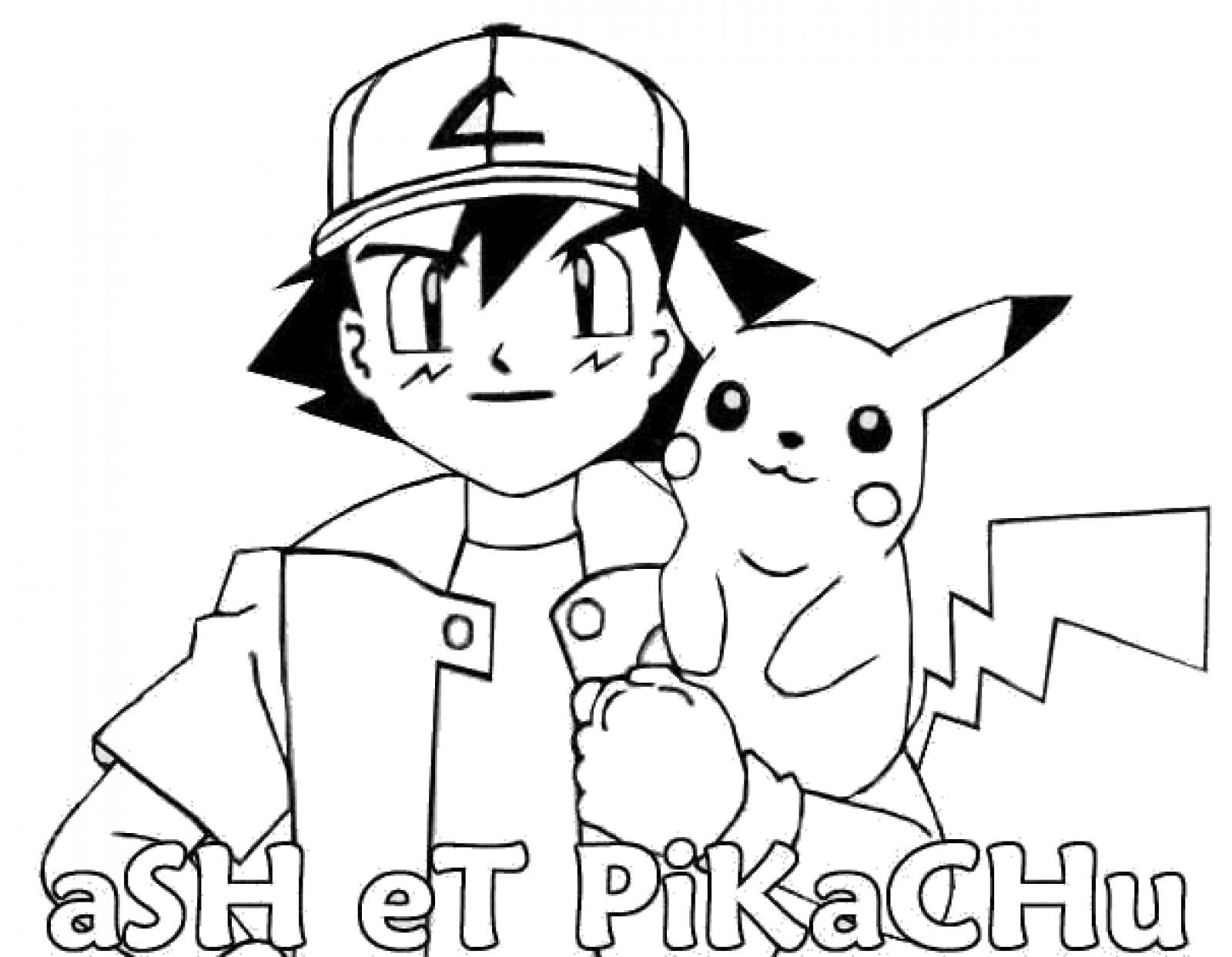Ash And Pikachu Coloring Page | Pikachu Coloring Page à Coloriage Pikachu