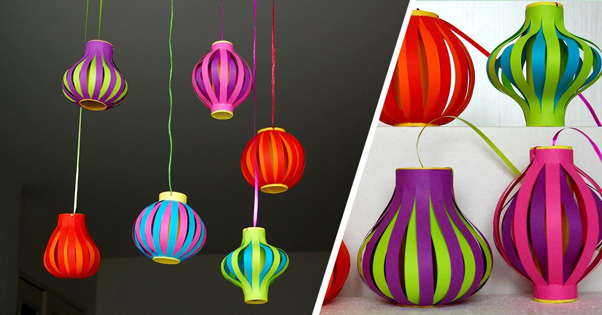 Atelier Diy Lampions intérieur Faire Du Bricolage En Papier