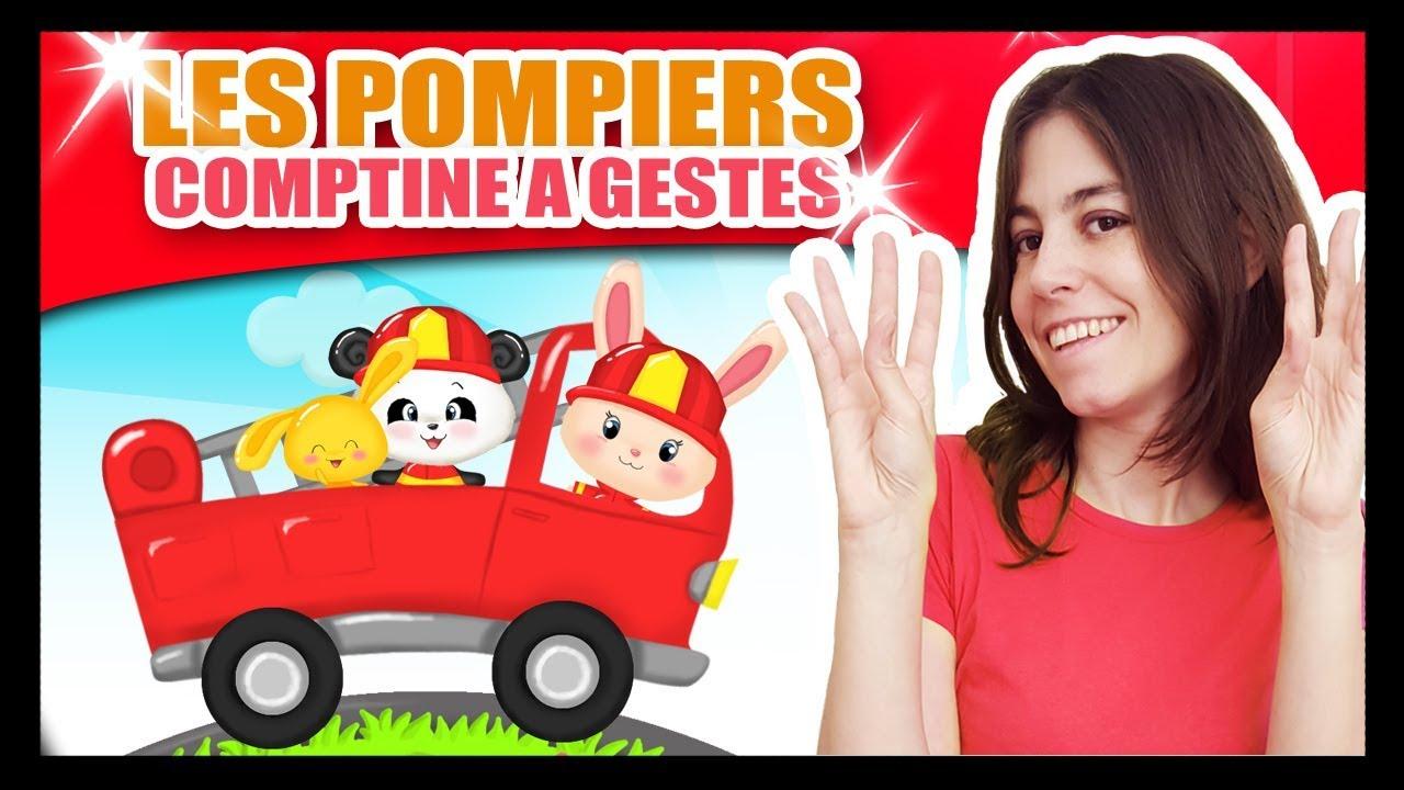 Au Feu Les Pompiers - Comptines Et Chansons À Gestes Pour avec Paroles Au Feu Les Pompiers