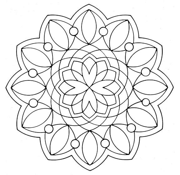 Ausmalbilder Mandala 17 | Ausmalbilder Malvorlagen destiné Mandala Facile A Dessiner