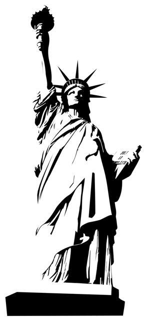 Autocollant Stickers Statue De La Liberté 2 Déco Design Usa encequiconcerne Statue De La Liberté Dessin