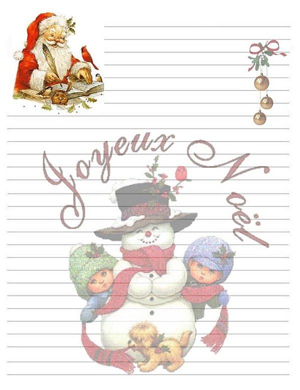 Avec Pitchoun: Lettre Au Père Noël à Papier À Lettre Pere Noel