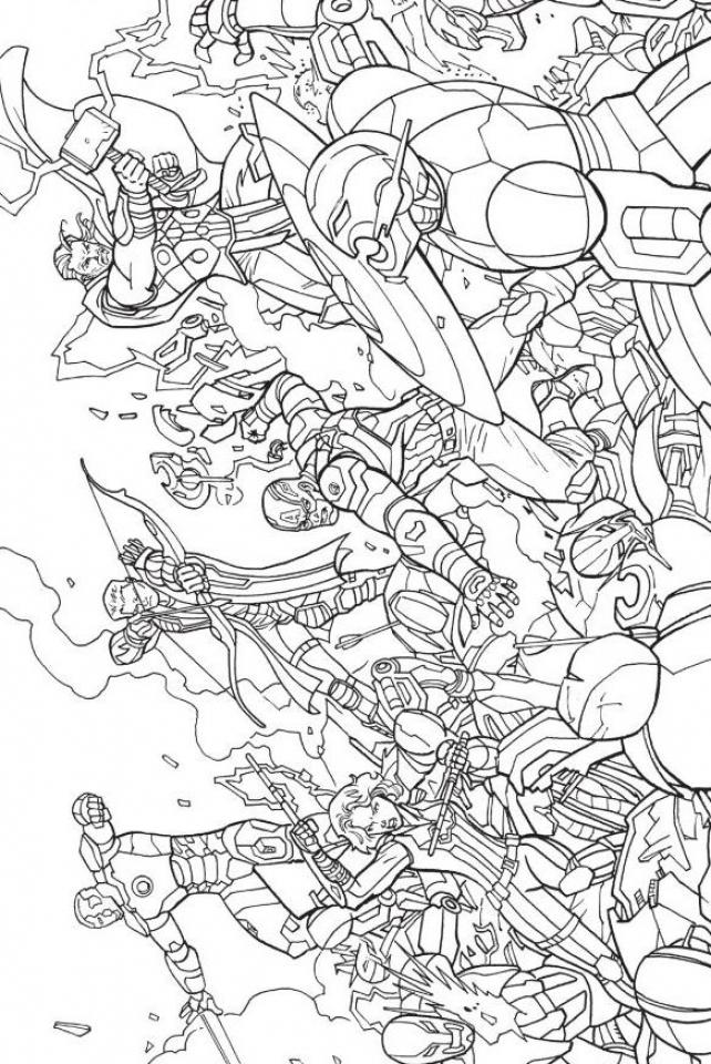 Avengers Coloring Pages - Kidsuki à Coloriage Avengers