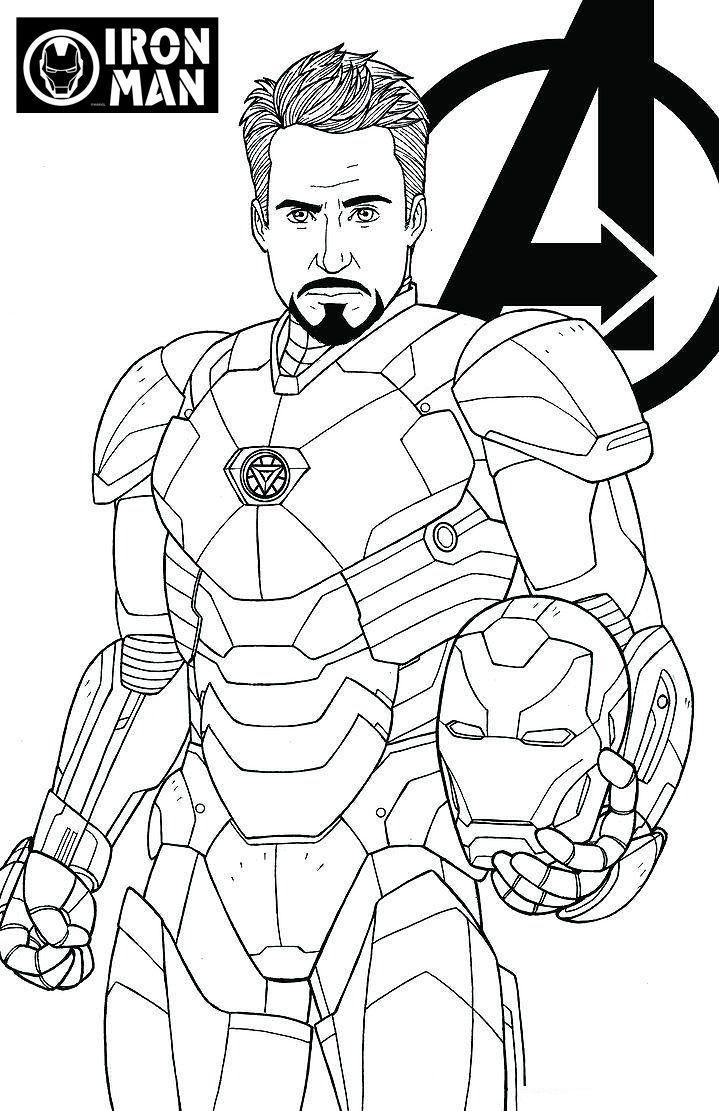 Avengers Endgame Iron Man Tony Stark Coloring Page tout Coloriage Marvel