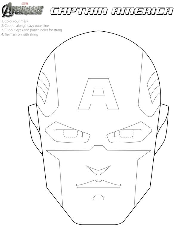 Avengers: Free Printable Coloring Masks. | Coloriages encequiconcerne Masque Super Héros A Imprimer